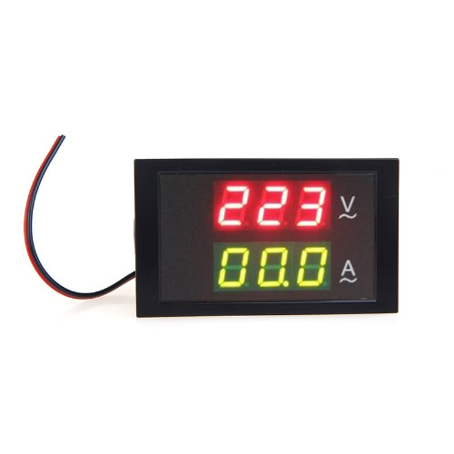 KKmoon Digital LED Voltage Meter Ammeter Voltmeter with Current Transformer AC80-300V 0-100.0A Dual Display