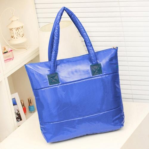 Neue Mode Frauen Damen Handtasche Platz Bale Schultertasche Tote blau