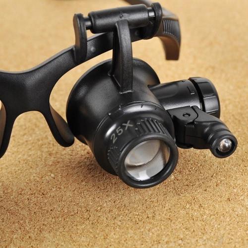 Occhiale di riparazione Occhiali Lente di ingrandimento Loupe con LED  10X 15X 20X 25X