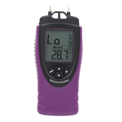 Professional Handheld Digital Moisture Meter Humidity Tester for Wood Concrete LCD Display Mini