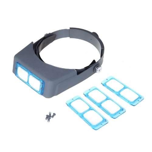 Lupa de Leitura de Headband montada na cabeça de lente dupla