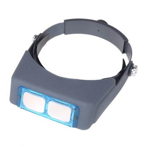 Doppia lente Headband Head-mounted lettura lente d'ingrandimento Loupe testa indossa 4 ingrandimenti