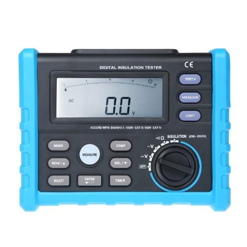 Digital Insulation Tester Meter 250V~2500V 0.01MΩ~100.0GΩ Multimeter