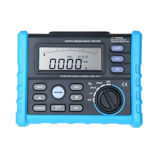 KKmoon アースグラウンド 抵抗電圧計  2&3極モード 0〜4.00kΩ  0V〜200 V