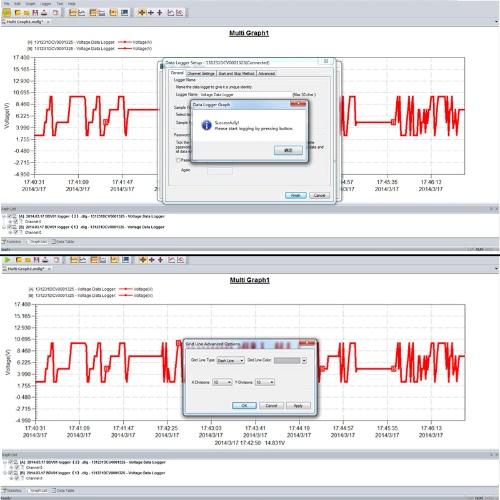 USB DC Voltage Data Logger Recorder LED Alarm 0~30V