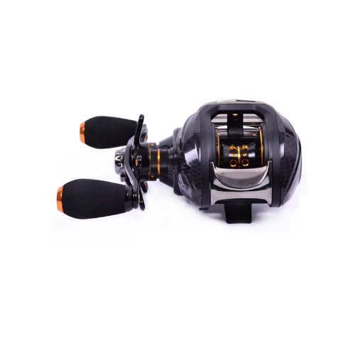 Trulinoya TS1200 14BB 6.3: 1 linke Hand Köder Gießen Fishing Reel 13Ball Lager + One-Way-Clutch-schwarz