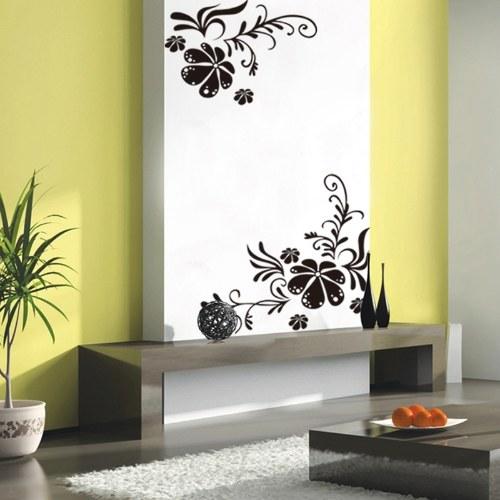 Flower Tree Vine Blossom Wall Sticker Mural Decor Art Vinyl Decal Black