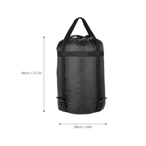 Lixada Lightweight Compression Nylon Stuff Sack Bag Outdoor Camping Black Color Lager Size