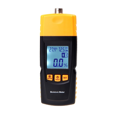 Woods Moisture Temperature Humidity Meter Tester with Detachable Fork Digital LCD