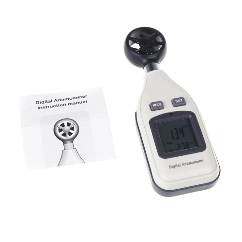 KKmoon Digital Air Velocity Temperature Anemometer Wind Speed Meter Thermometer LCD