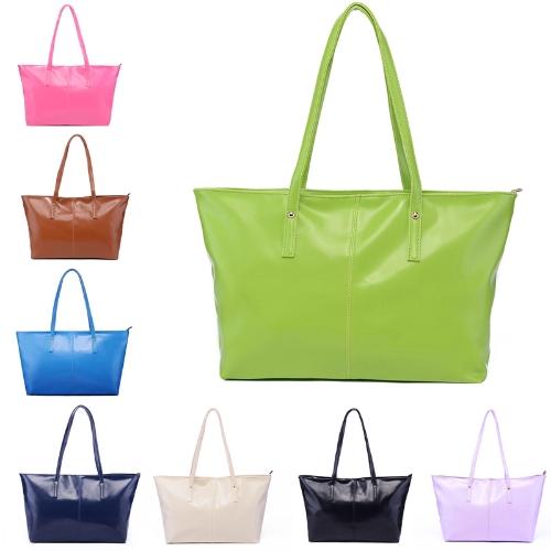 Новые женской моды Пу кожаная сумочка конфеты цвет тотализатор сумка светло-фиолетовый
