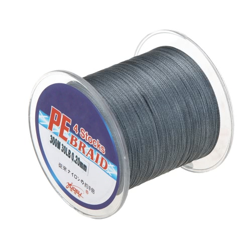300M 30LB 0.2mm Fishing Line Strong Braided 4 Strands Grey