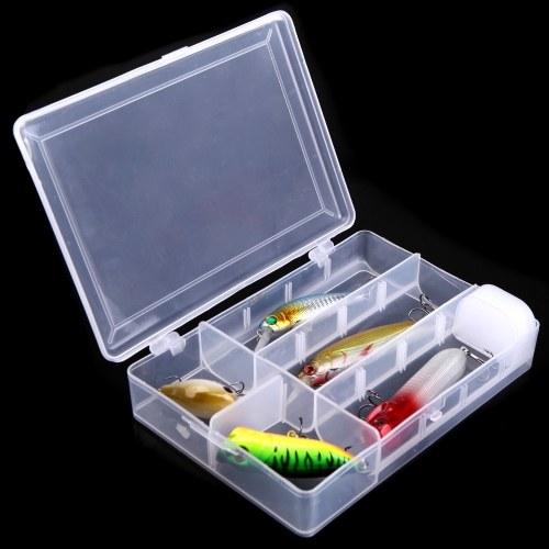 5pcs Artificial pesca señuelo duro cebo pececillo lápiz Popper inestable con gancho plástico caja de pesca