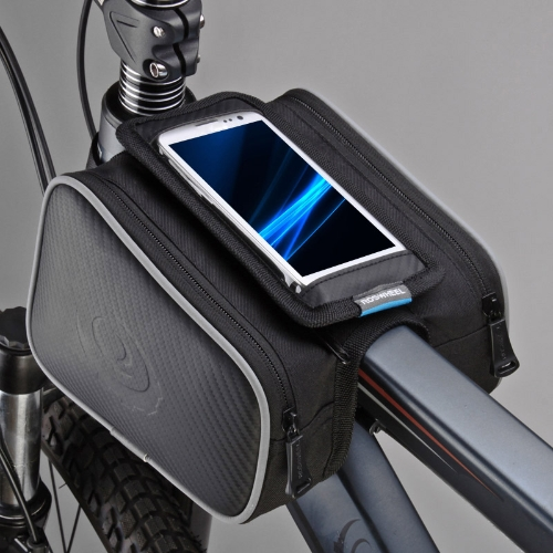Roswheel Cycling Bike Bicycle Front Top Tube Frame Pannier Double Bag Pouch for 4.8in Cellphone 1.8L 12813