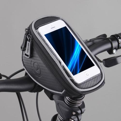 Roswheel Велоспорт велосипед велосипедов передней верхней рамы руль сумка чехол для Cellphone 5 в 1 Л 11810