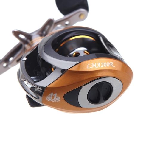 LMA200 10+1BB Ball Bearings Left Hand Baitcasting Fishing Reel High Speed 6.3:1