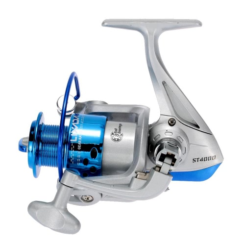 Lixada 8BB Ball Bearings Left/Right Interchangeable Collapsible Handle Fishing Spinning Reel ST4000 5.1:1