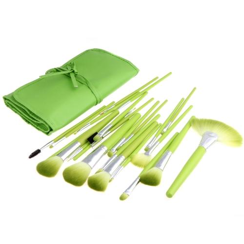 High quality Make-up Professional 24pcs Makeup Brush Set Kit Tools Case Green