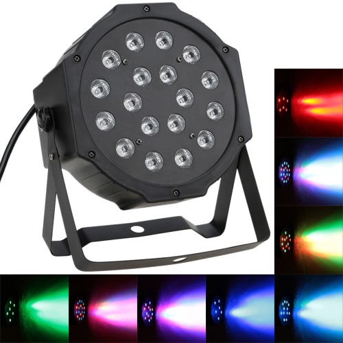 25W 18LEDs Professional DMX-512 RGB LED Etapa PAR Light