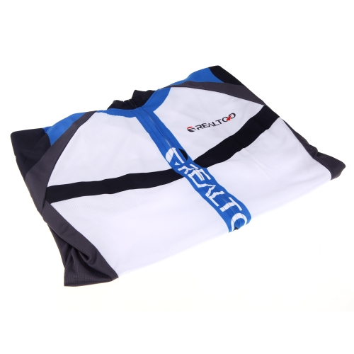 Men's Cycling Jersey Shirt Bike Bicycle Blue/Black Image