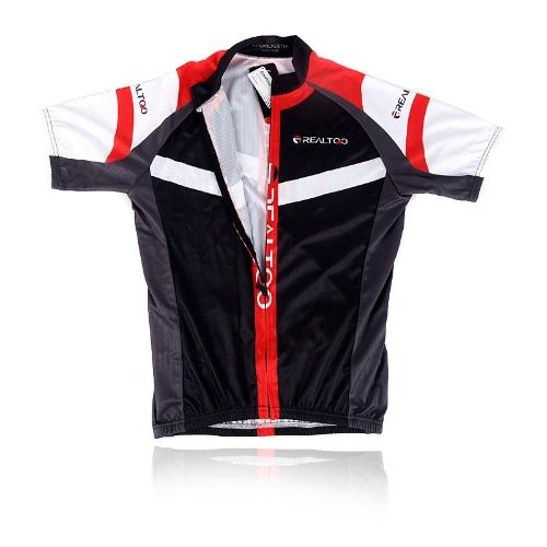 メンズ サイクリング ジャージー シャツ自転車自転車ブラック/レッド