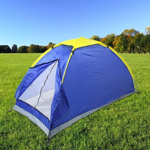 Lixada Portable Tenda da campeggio singolo strato esterno impermeabile resistente ai raggi UV