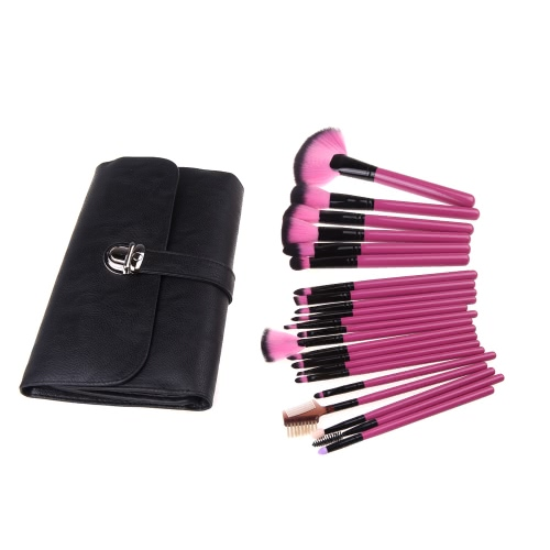 Wood Professional 22Pcs Makeup Brush Kit Cosmetic Make Up Set with Pouch Bag