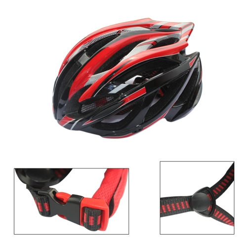 21 Vents Ultralight Sports Cycling Helmet with LED Taillight Visor Mountain Bike Bicycle Adult Red