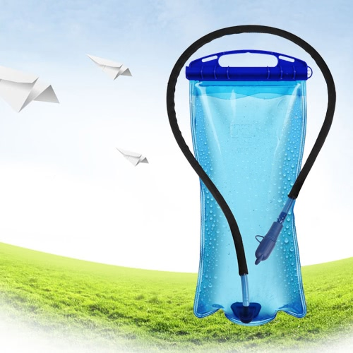 Lixada 2L PEVA Wide Mouth Hydration Water Bladder Bag for Sports Hiking Camping Climbing Bicycle Backpack Portable