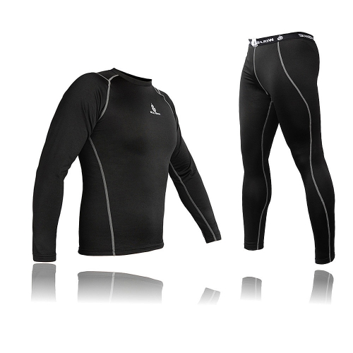 Herren Radfahren Jersey Shirt Bike Fahrrad Basislayer Unterwäsche Anzug Langarm Winter-Sport-Bekleidung