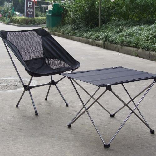 キャンプ屋外ピクニック 7075 アルミニウム合金の超軽量グレー ポータブル折りたたみ式折りたたみテーブル デスク