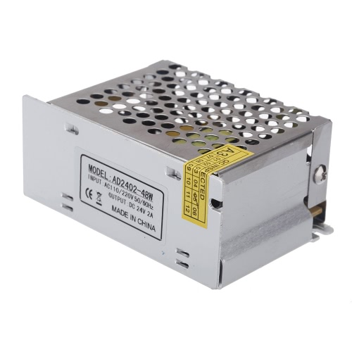 AC 100V~240V в DC 24V 2A 48W  Вольтотрансформатор Переключатель питания для светодиодной ленты