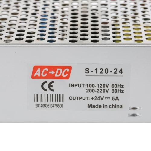 AC 100V~240V to DC 24V 5A 120W Voltage Transformer