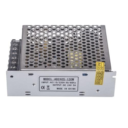 AC 100V~240V в DC 24V 5A 120W Вольтотрансформатор Переключатель питания для светодиодной ленты