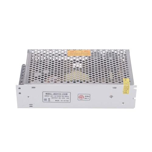 AC 110V / 220V à 24V DC 10A transformateur de tension 240W interrupteur d'alimentation pour bande de LED