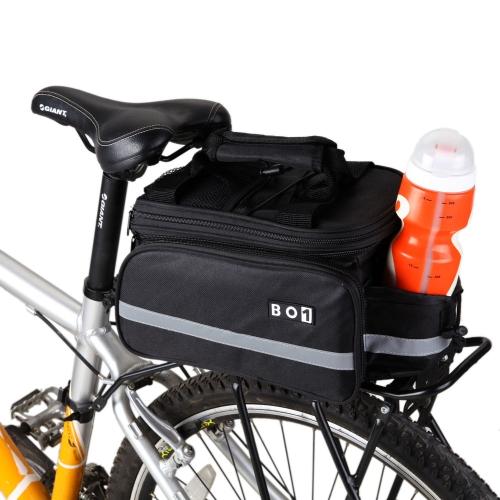 Lixada Borsa sedile posteriore della bici/ borsa bici / copertina pioggia da bicicletta/ moto gerla per ciclismo/ sportivo all'aperto/ viaggiante/ escursioni, impermeabile, nero