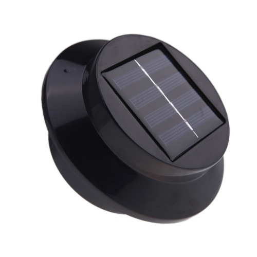 Solar-powered Light with 3pcs LEDs Polycrystalline Solar Panel Rechargeable Water-resistant Environmental-friendly Universal for Roof Pathway Outdoor Garden Yard Black