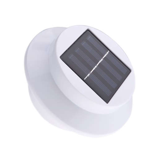 Solar-powered Light with 3pcs LEDs Polycrystalline Solar Panel Rechargeable Water-resistant Environmental-friendly Universal for Roof Pathway Outdoor Garden Yard White