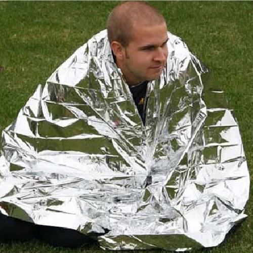210 * 130 см чрезвычайных одеяло выживания спасения изоляция занавес открытый спасения жизни военных серебро