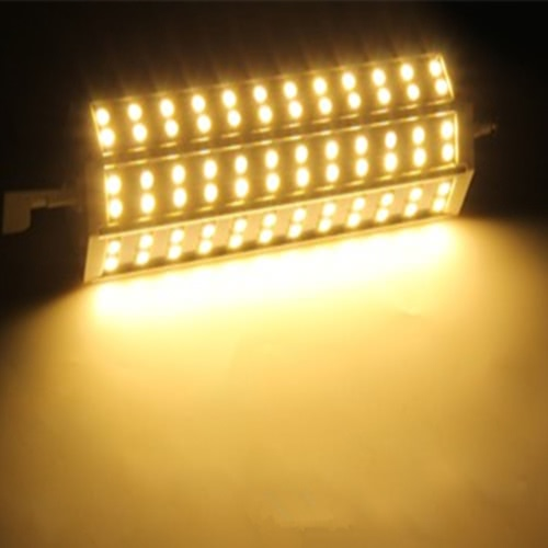 R7S 15W 72 LEDs 5050 SMD Energy Saving Light Bulb Lamp 189mm Warm White 100-240V Replace Halogen Floodlight