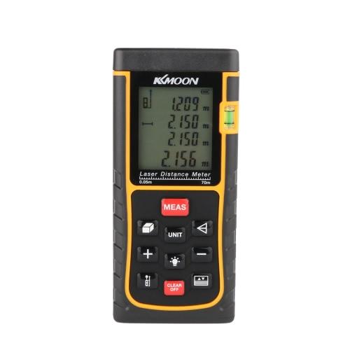 KKmoon RZE 70 70 m/229 フィート ミニ デジタル レーザー距離計ファインダー測定距離面積体積バブルのレベルと