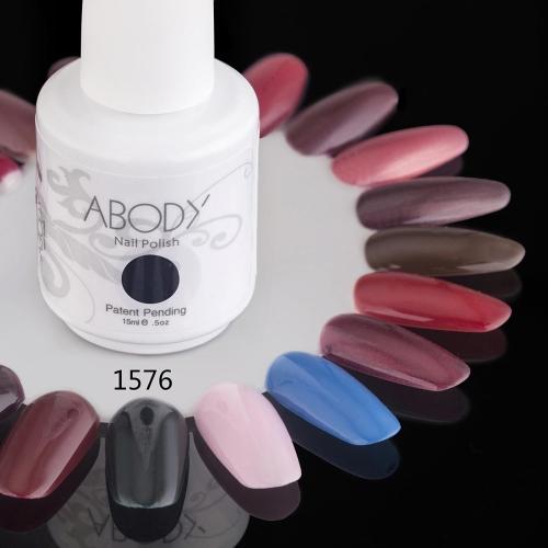 Abody 15ml Soak Off Nail Gel Polish Nail Art Professional Shellac Lacquer Manicure UV Lamp & LED 177 Colors 1576
