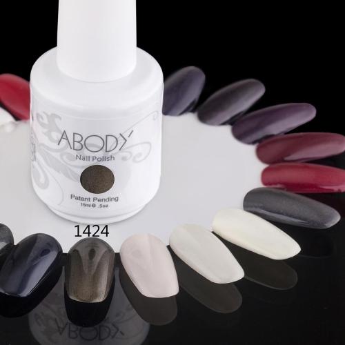 Abody 15ml Soak Off Nail Gel Polish Nail Art Professional Shellac Lacquer Manicure UV Lamp & LED 177 Colors 1424