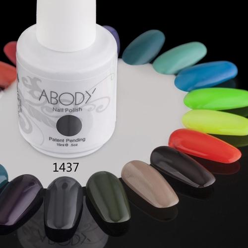 Abody 15ml Soak Off Nail Gel Polish Nail Art Professional Shellac Lacquer Manicure UV Lamp & LED 177 Colors 1437