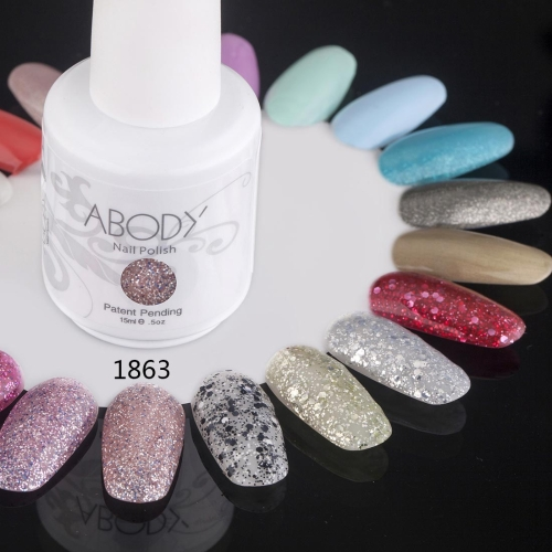 Abody 15ml Soak Off Nail Gel Polish Nail Art Professional Shellac Lacquer Manicure UV Lamp & LED 177 Colors 1863