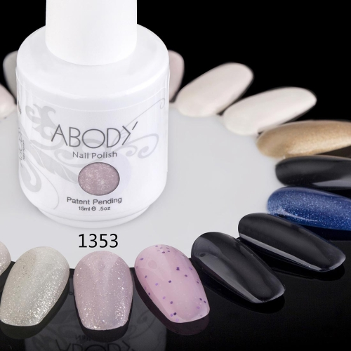 Abody 15ml Soak Off Nail Gel Polish Nail Art Professional Lack Maniküre UV Lampe & LED 177 Farben 1353