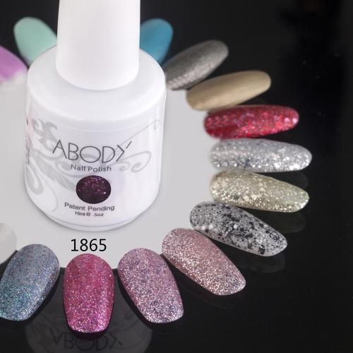 Abody 15ml Soak Off Nail Gel Polish Nail Art Professional Shellac Lacquer Manicure UV Lamp & LED 177 Colors 1865