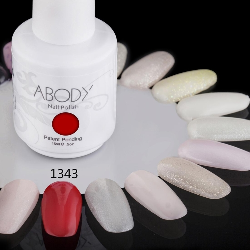 Abody 15ml Soak Off Nail Gel Polish Nail Art Professional Shellac Lacquer Manicure UV Lamp & LED 177 Colors 1343