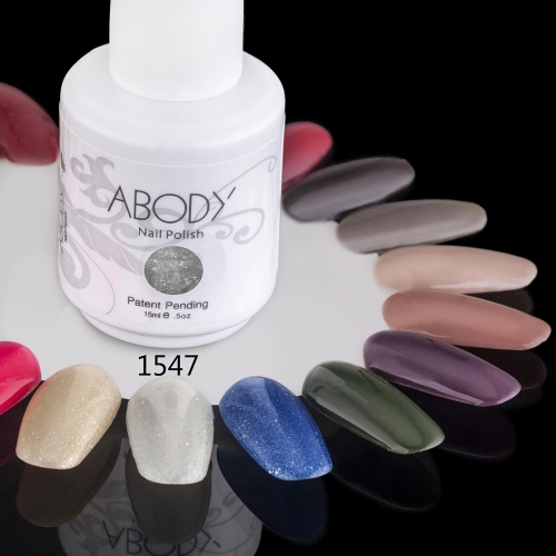 Abody 15ml Soak Off Nail Gel Polish Nail Art Professional Shellac Lacquer Manicure UV Lamp & LED 177 Colors 1547