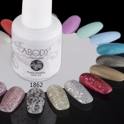 Abody 15ml Soak Off Nail Gel Polish Nail Art Professional Shellac Lacquer Manicure UV Lamp & LED 177 Colors 1862